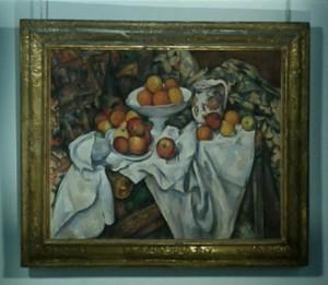 """Cézanne, """"Apples and Oranges"""", c. 1899 Musée d'Orsay."""