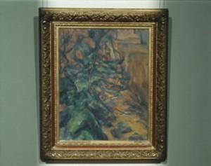 """Cézanne, """"Rocks and Branches at Bibémus"""", 1900-04, Petit Palais, Paris."""