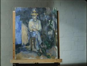 "Cézanne, ""Portrait of the Gardener Vallier"", 1905-06, Tate Gallery, London."