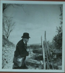 Cézanne painting at Les Lauves, 1906. Photo Emile Bernard.