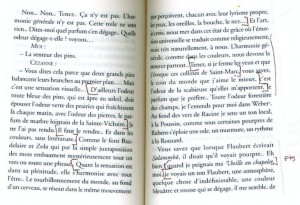 Gasquet text, pp. 240-41, showing elisions made by Straub-Huillet. The non-bracketed passages have been cut.