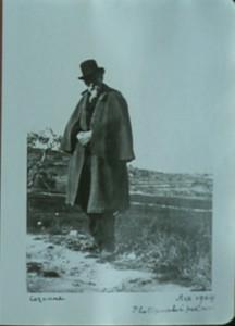 Cézanne at Les Lauves. Photo by Emile Bernard, 1904.