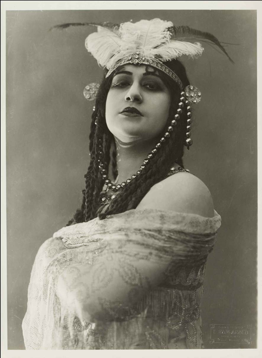 Italia Almirante-Manzini plays the painter Sofonisba in Cabiria (Giovanni Pastrone, 1914) Image courtesy of Museo Nazionale del Cinema di Torino